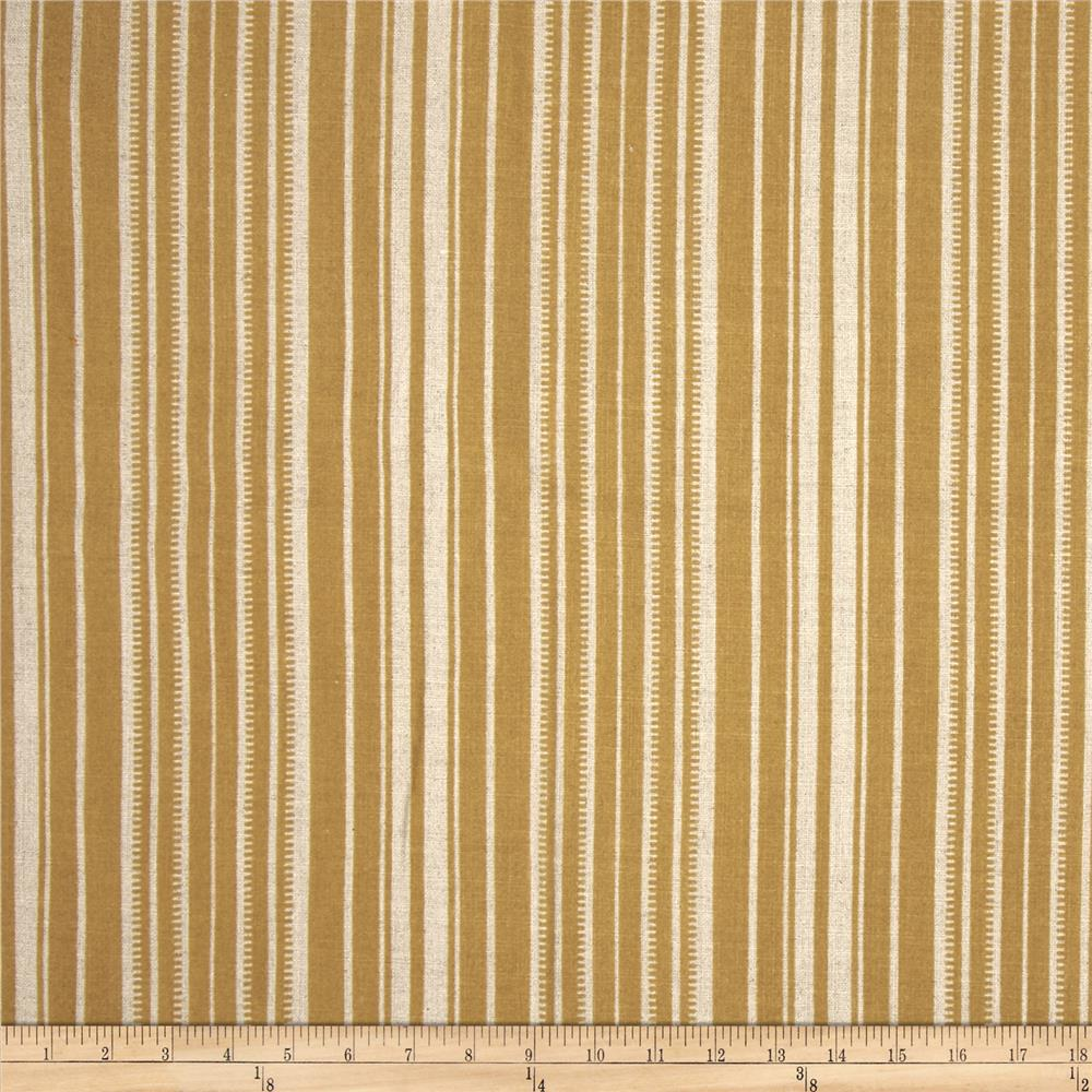Robert Allen Promo Wana Stripe Flocked Linen Blend
