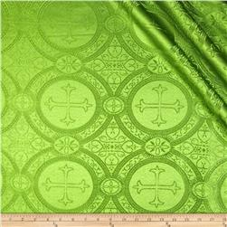 Clergy Brocade Moss Fabric