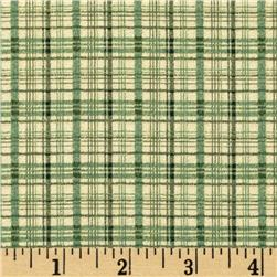 Wintersong Collection Winter Plaid Green/Sage Fabric