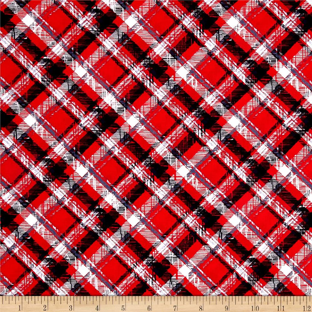 Scottie Love Pet Plaid Red