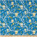 Kokka Trefle Animals Owl & Tree Canvas Blue