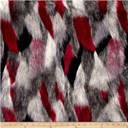 Luxury Faux Fur Matterhorn Fuchsia/Black