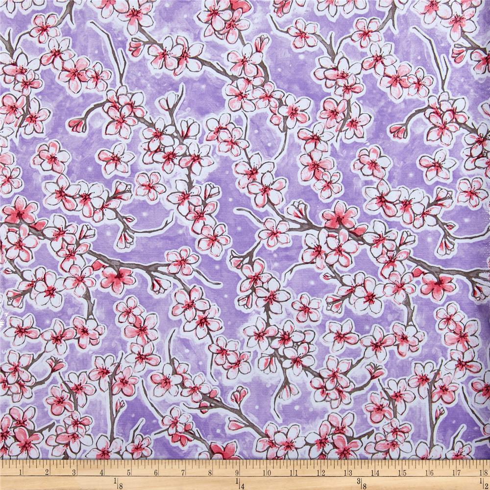 Oilcloth Fuji Floral Lilac Fabric
