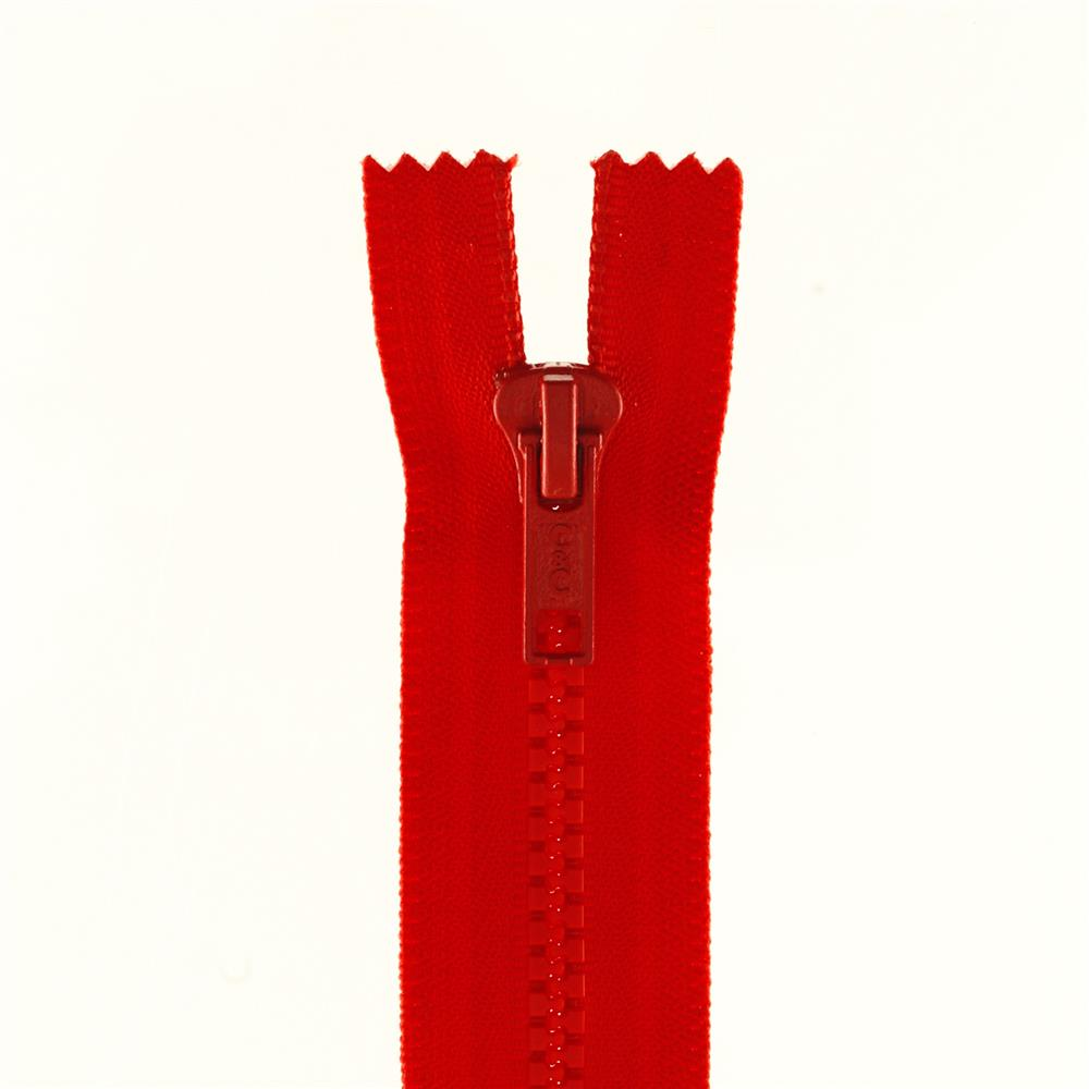 "Coats & Clark Closed Bottom Molded Zipper 14"" Atom Red"