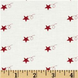 Moda Mistletoe Lane Star Trail Whisper White/Crimson
