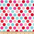 Riley Blake Lovey Dovey Flannel Dots Blue