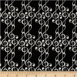 Concerto G-Cleff Metallic Black/Silver Fabric