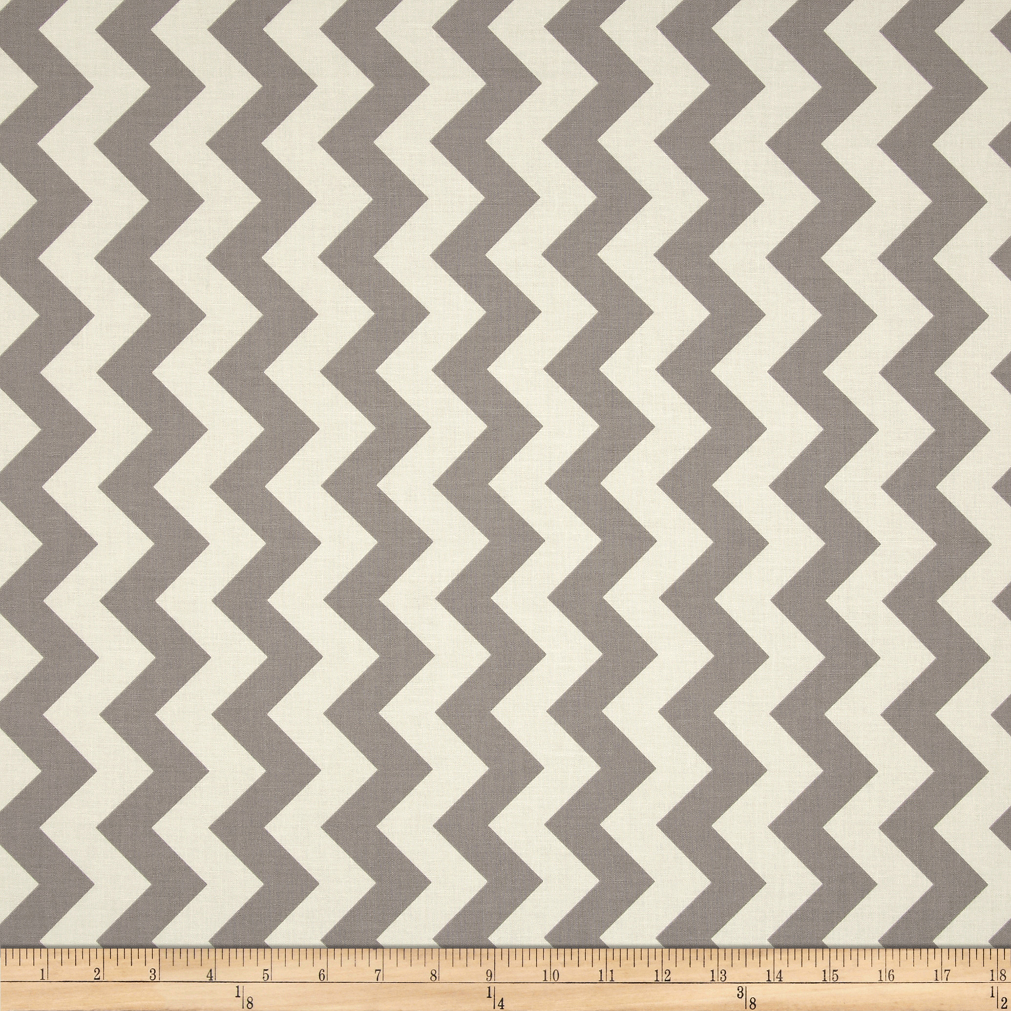 Riley Blake Le Creme Basics Chevron Grey/Cream Fabric