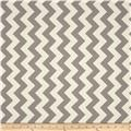 Riley Blake Le Creme Basics Chevron Grey/Cream