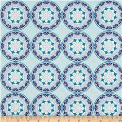 Silk Road Decorative Circles Aqua/Multi