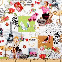 April In Paris Collage Multi Fabric