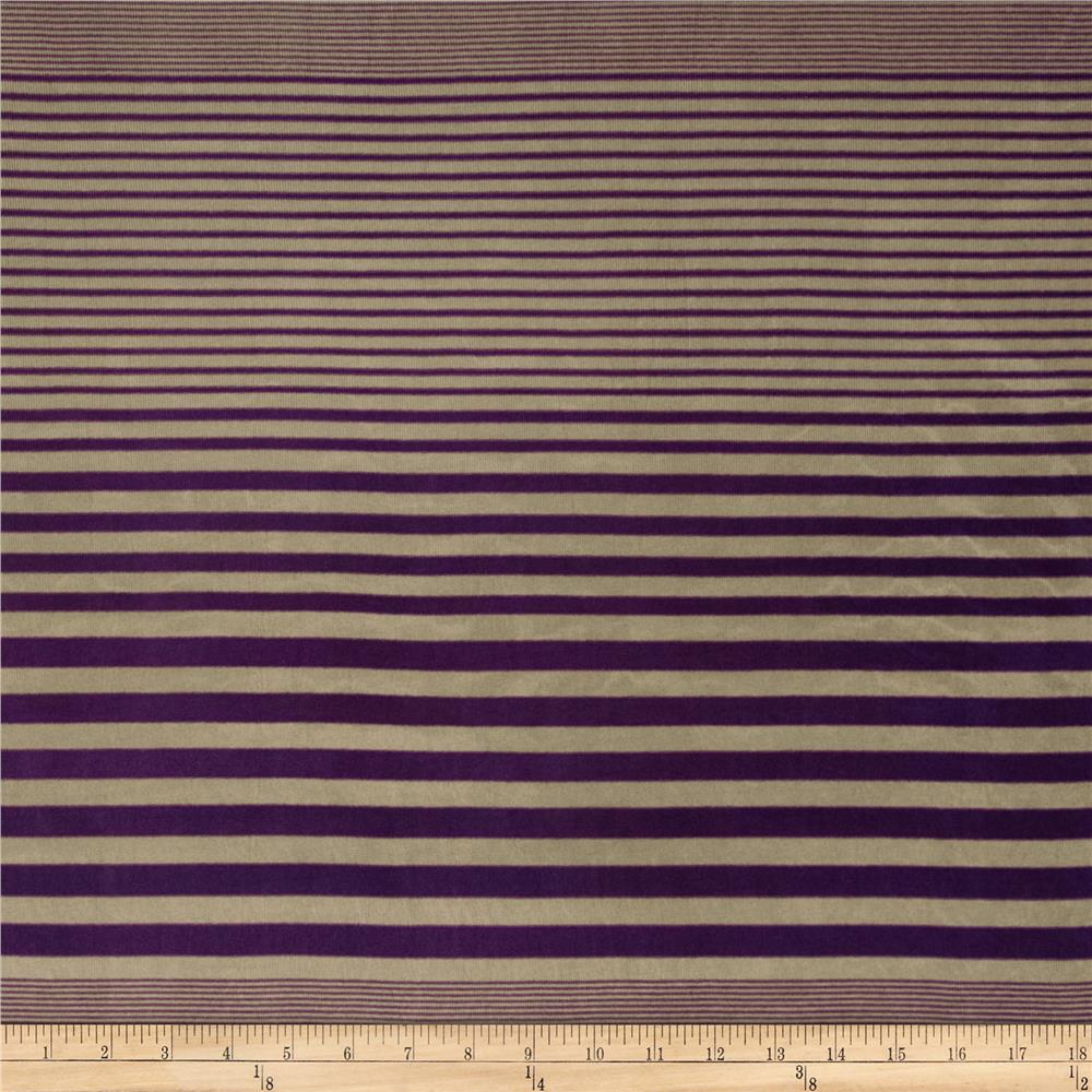 Silky Hatchi Knit Stripes Purple/Tan