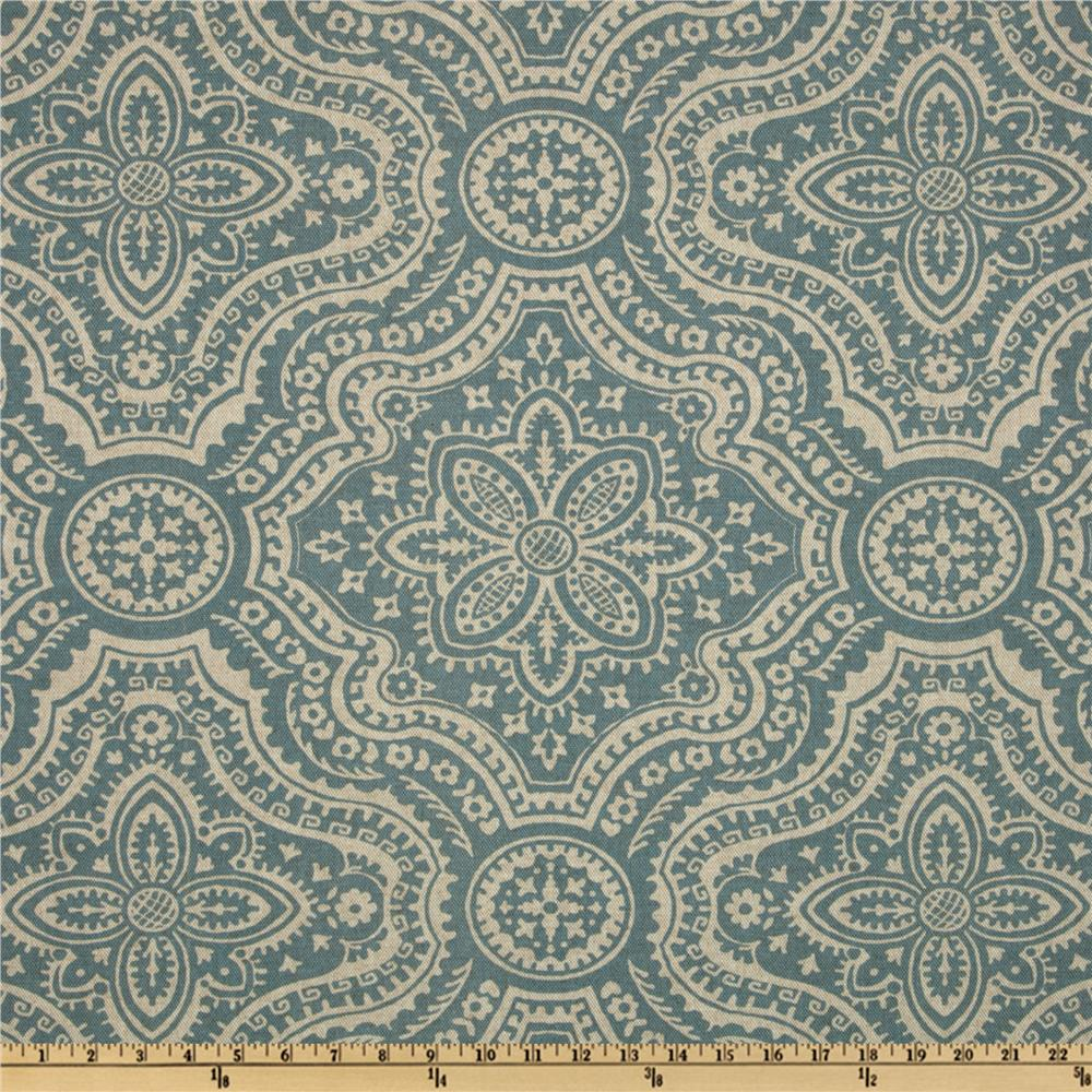 Premier Prints Dakota Damask Blend Cadet/Oatmeal