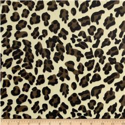 Animal Print Soft Fur Leopard Brown/Tan