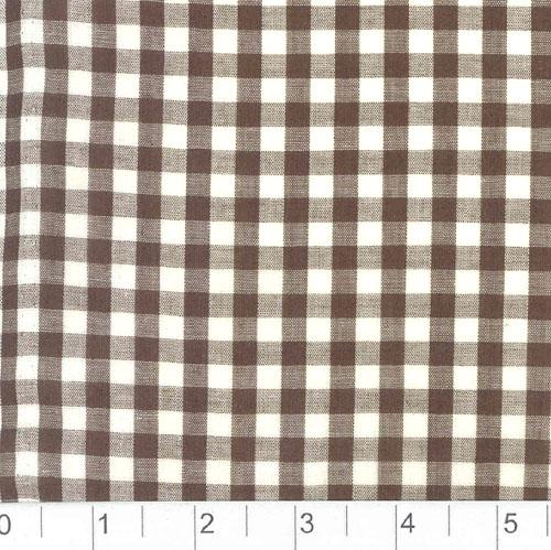 Woven 1/4 Gingham Chocolate Brown