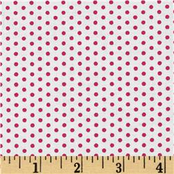 Kaufman Spot On Pindot Strawberry