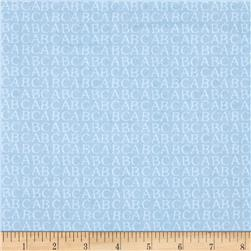 Comfy  Flannel ABC Blue