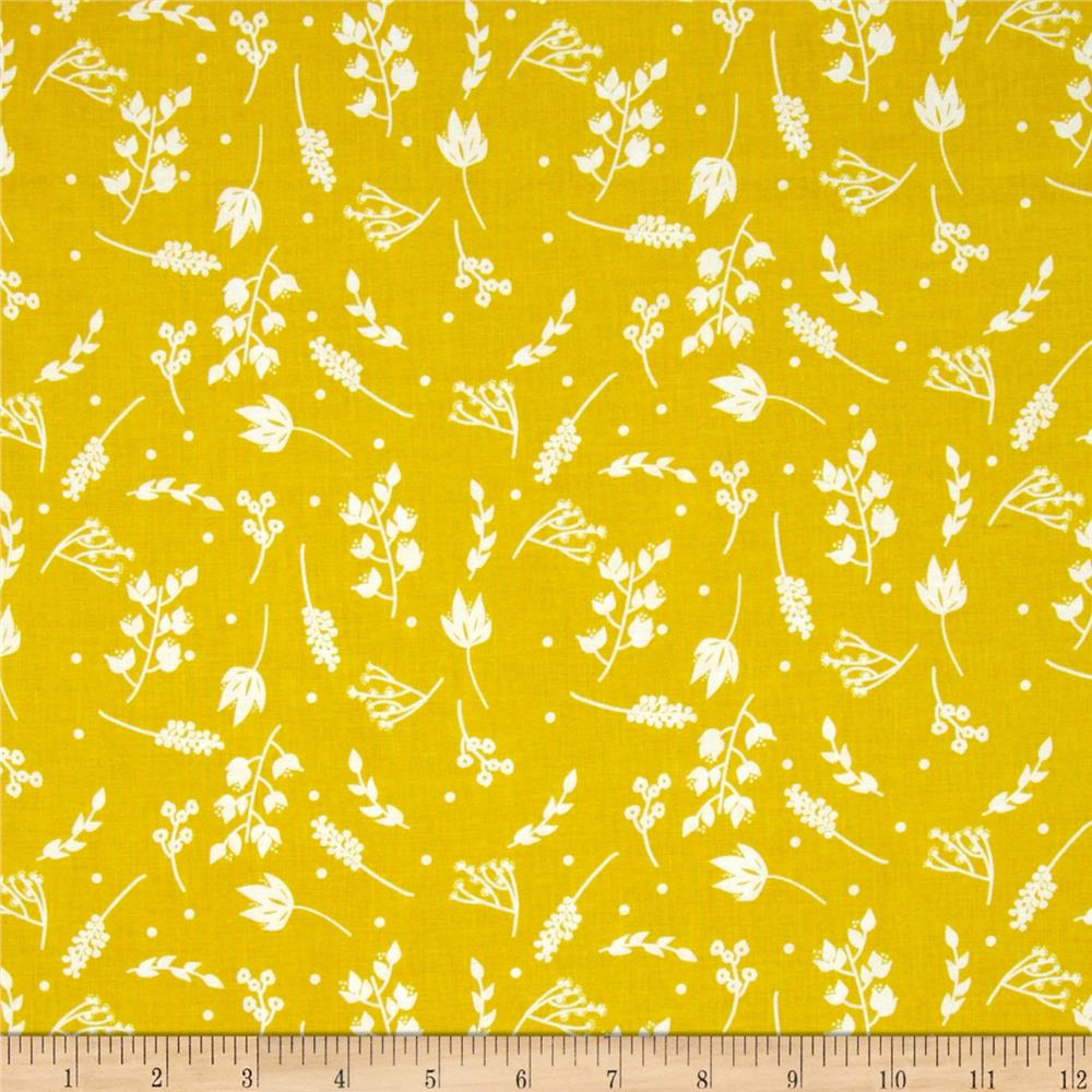 Riley Blake Floriography Branches Yellow