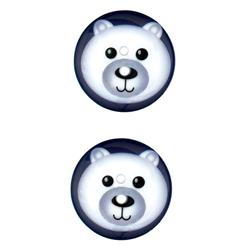 Novelty Winter Wonder Button 1 1/8'' Polar Bear
