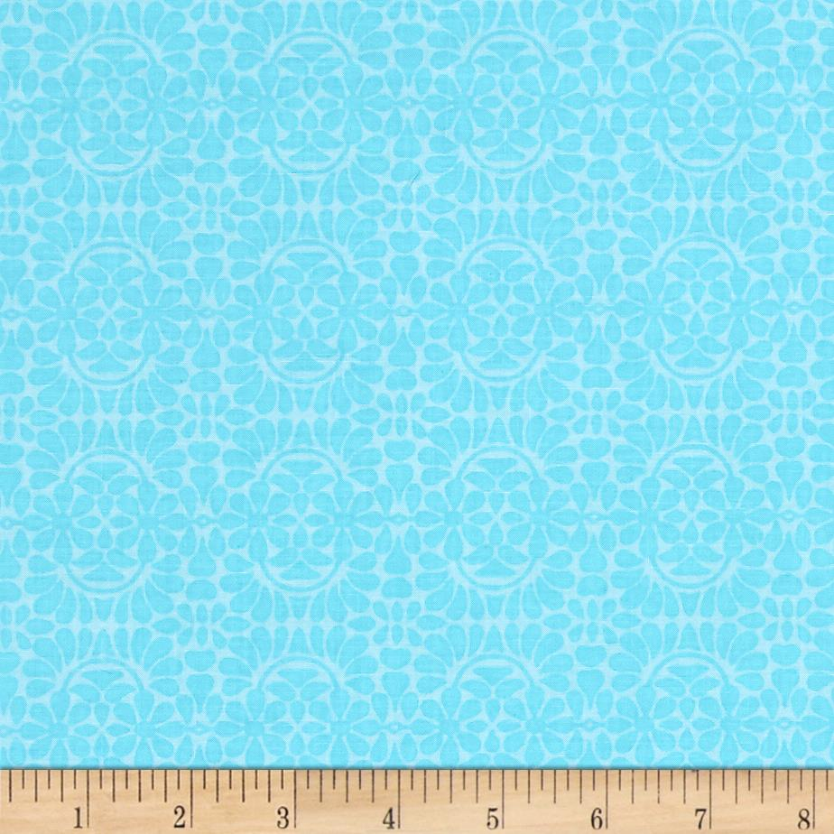 Liberty Garden Libby's Lace Turquoise Fabric