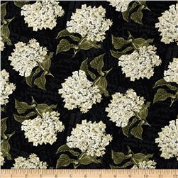 Vintage Garden Packed Floral Black