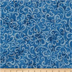 Kaufman Winter Grandeur Metallic Scroll Evening