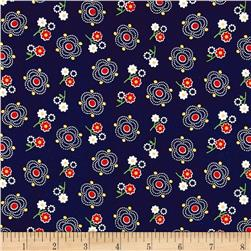 Penny Rose Gingham Girls Main Navy