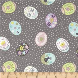 Lewis & Irene Salisbury Spring Painted Eggs Grey