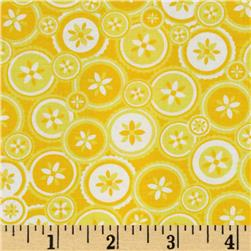 Jenean Morrison True Colors Buttons Yellow Fabric