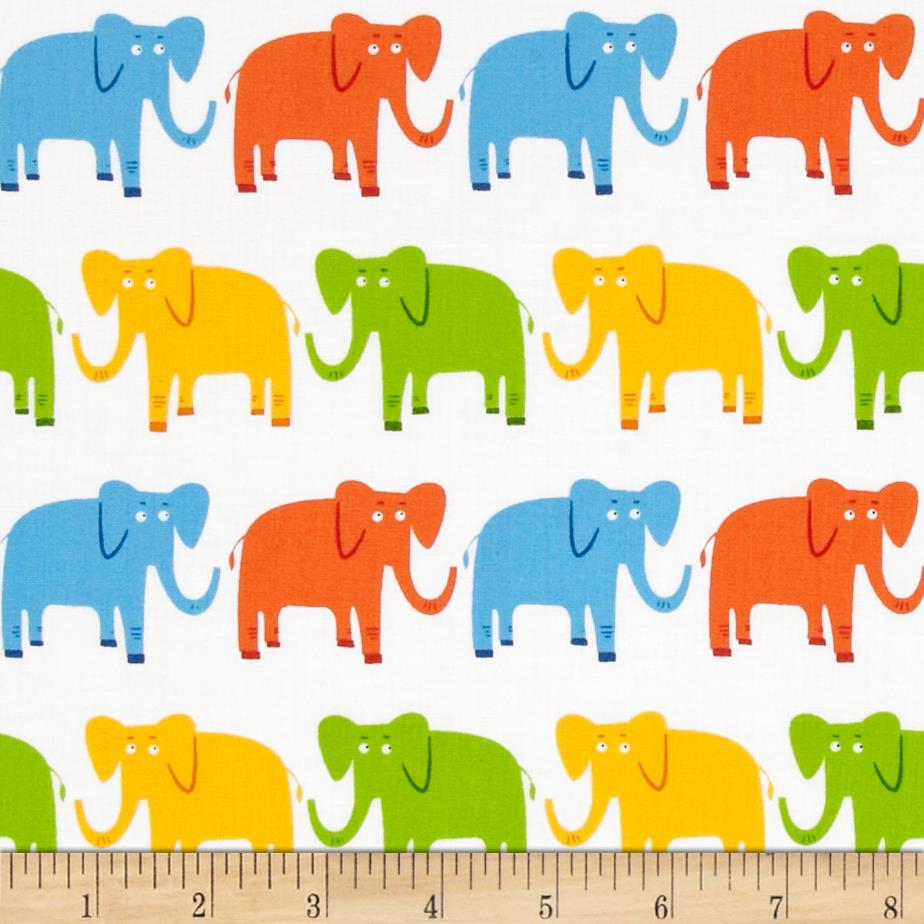 Jungle Party Elephants Bright