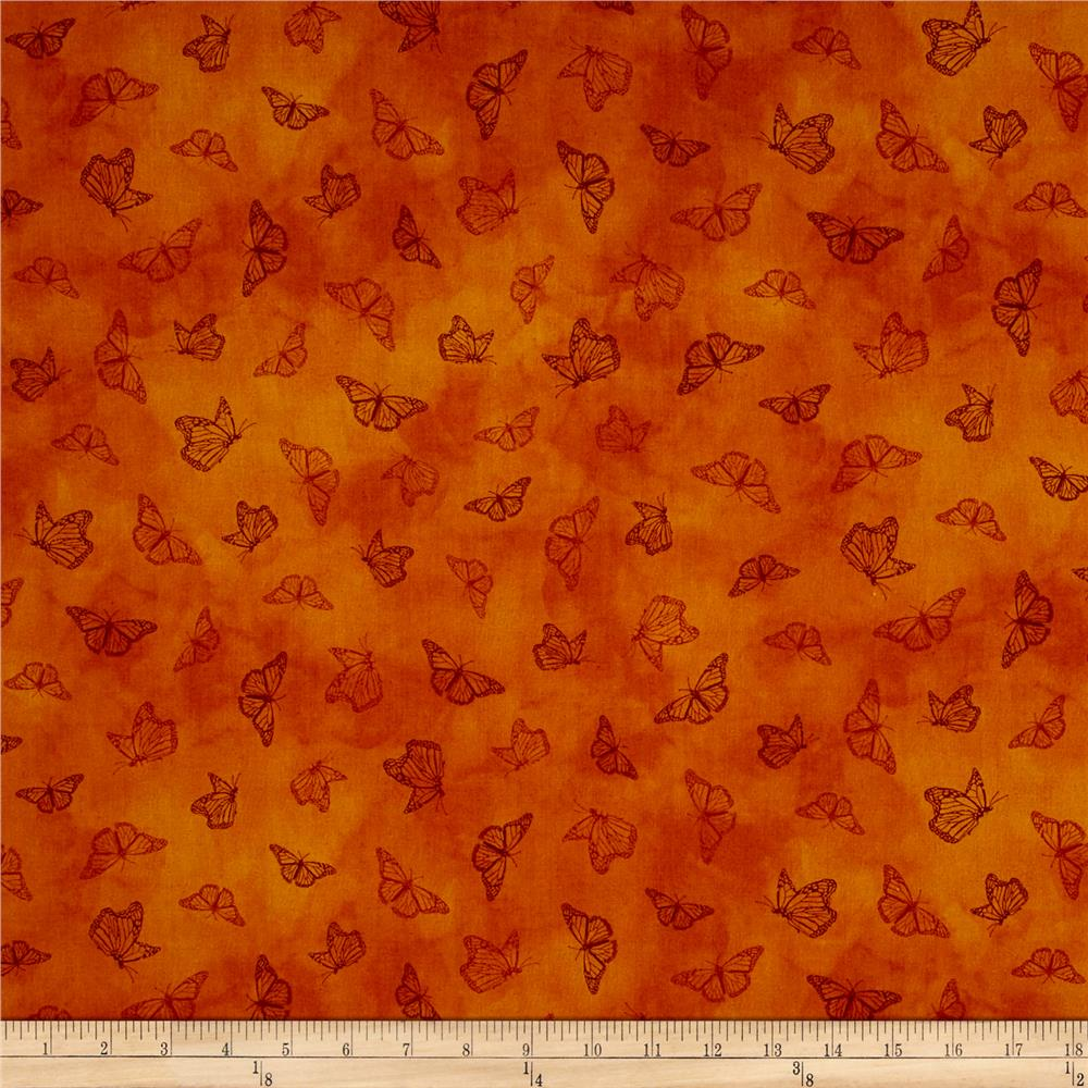 Serenity Prayer Butterfly Toile Rust