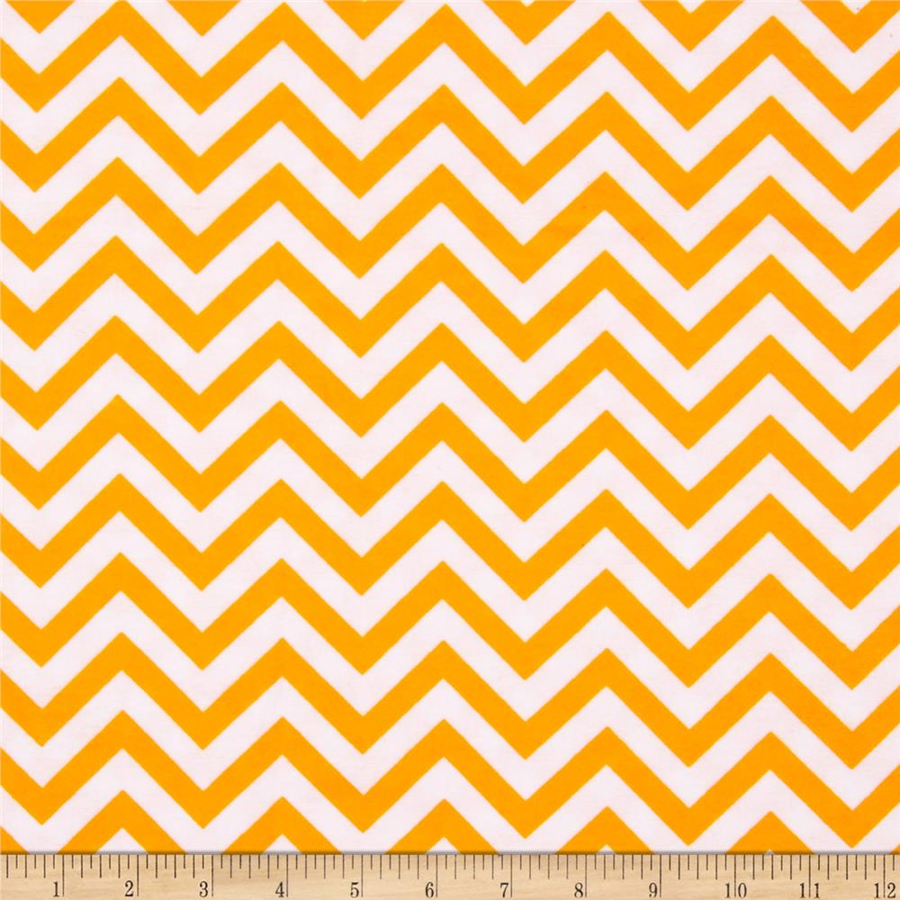 Flannel Chevron Orange/White Fabric By The Yard