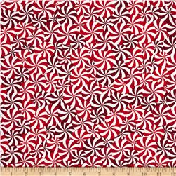 Kanvas Winter Novelty Candy Swirls Red/White