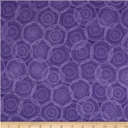 Valori Wells Quill Interlock Knit Mod Circles Grappa Purple