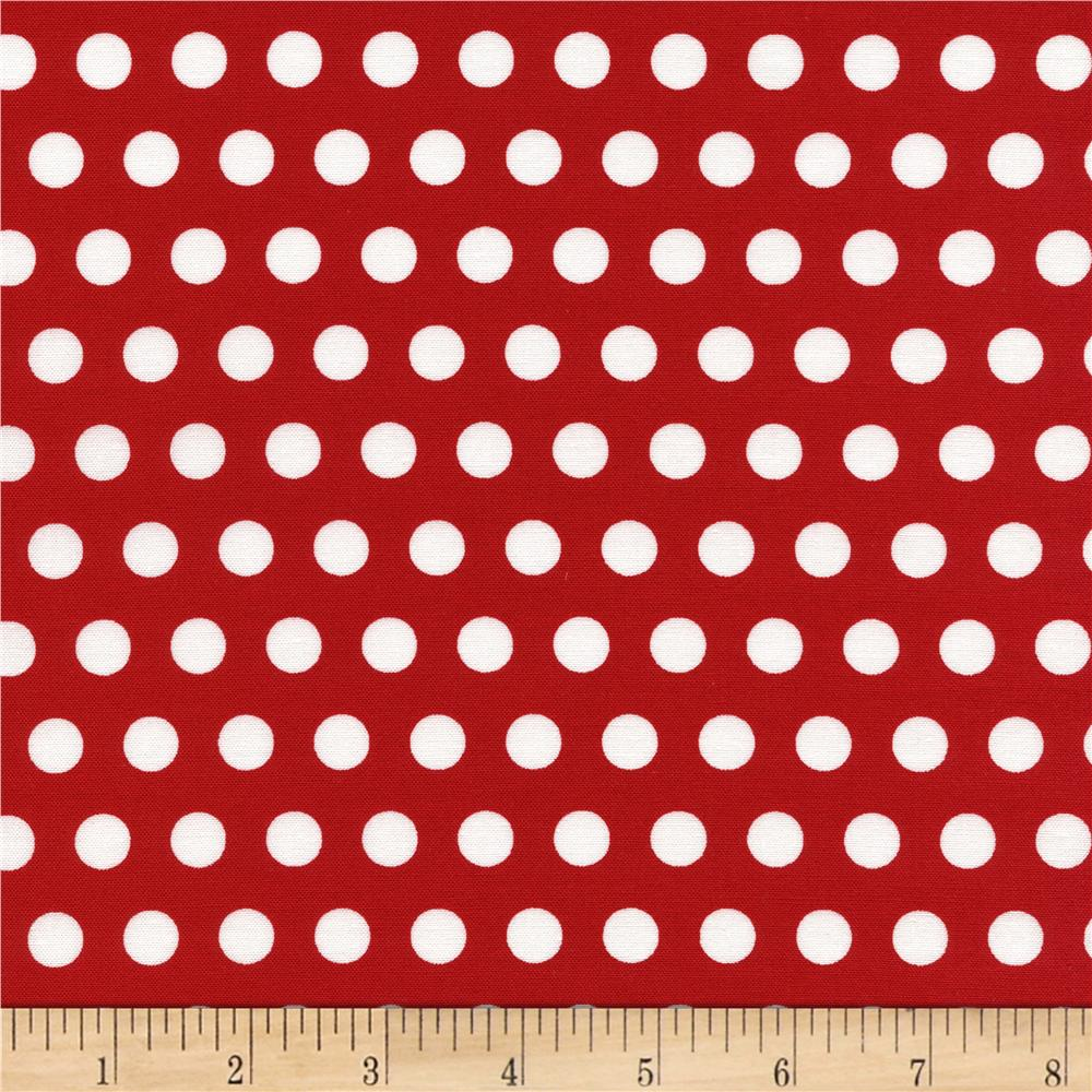 Timeless Treasures Tribeca Set Dot Red