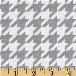 Riley Blake Medium Houndstooth Grey