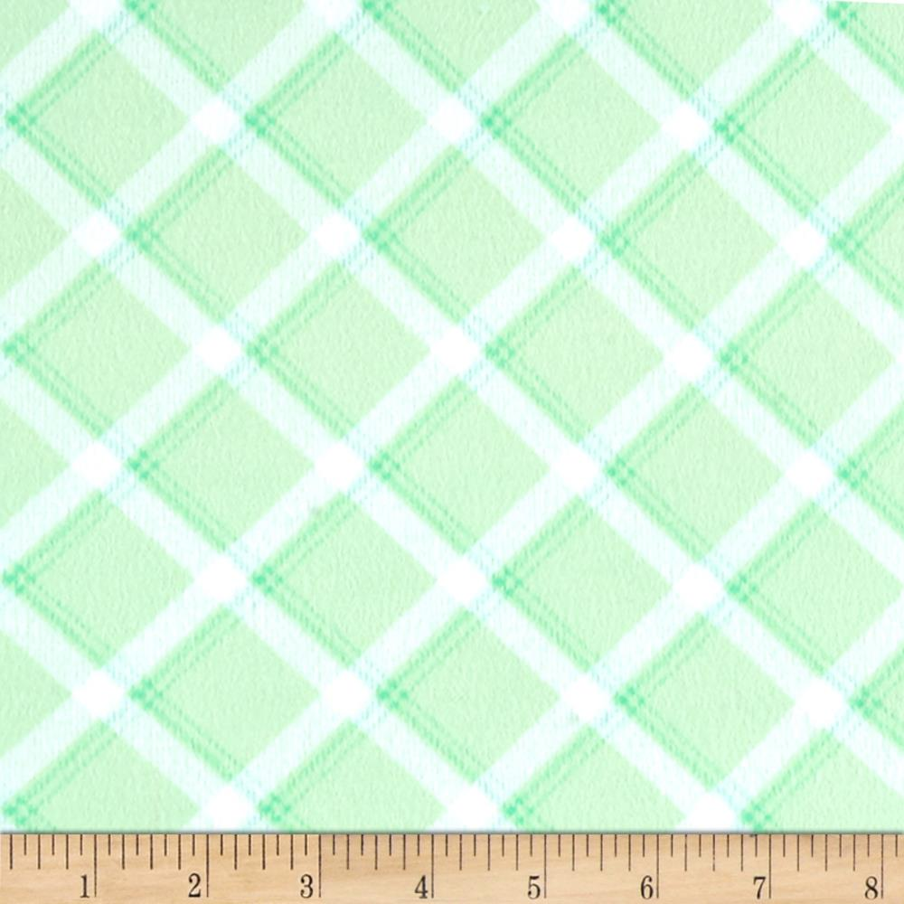 Kanvas breezy baby flannel lullaby plaid light green for Cheap baby fabric