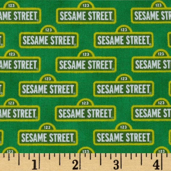 Welcome to Sesame Street Street Signs Green