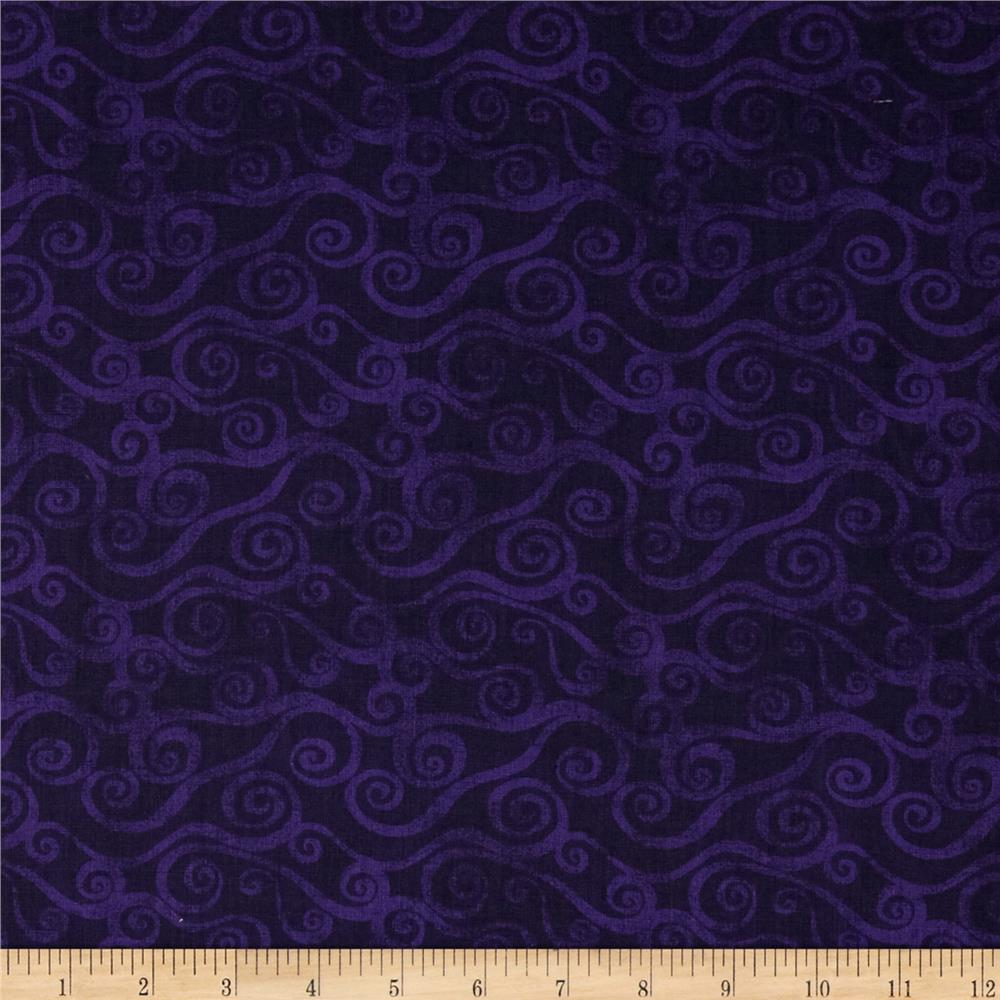 108 Quot Wide Quilt Back Swirly Scroll Purple Discount