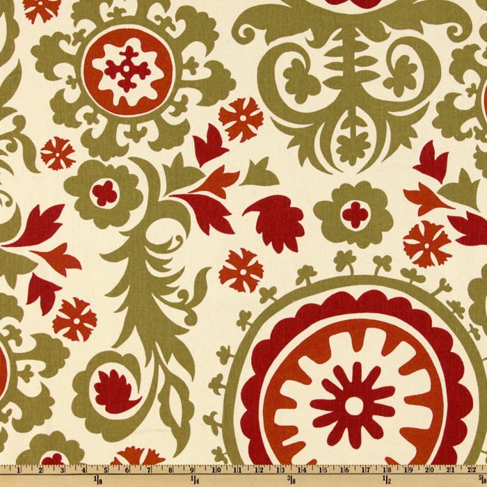 Premier Prints Suzani Autumn/Natural Fabric