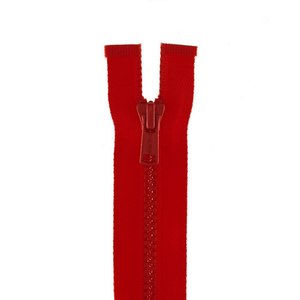 "Coats & Clark Medium Weight Molded Separating Zipper 20"" Atom Red"
