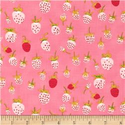 Heather Ross Briar Rose Strawberry Pink