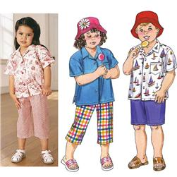 Kwik Sew Toddlers Pants, Shorts, Shirt & Hat
