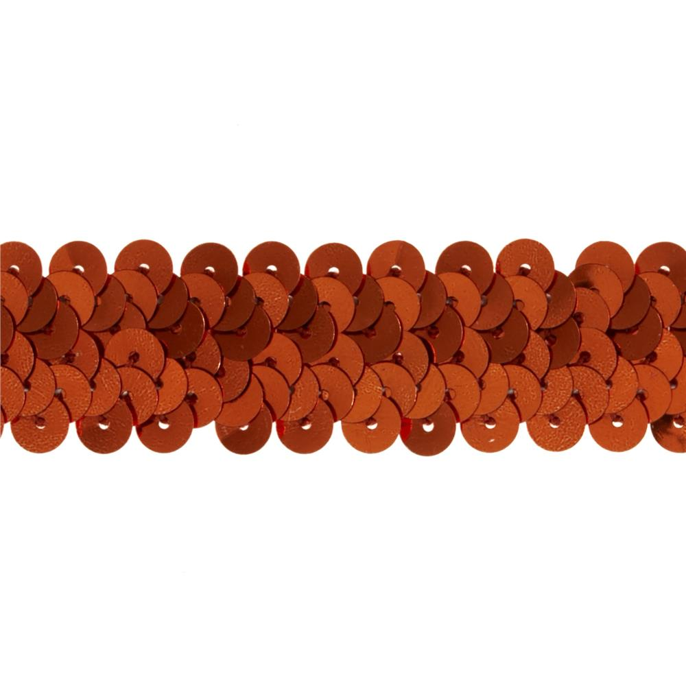 "7/8"" Metallic Stretch Sequin Trim Orange"