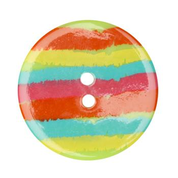 Fashion Button 1-3/8'' Confetti Sketchy Stripes Multi