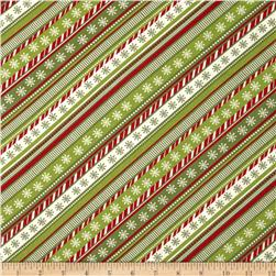 Sweetie Pie Snowmen Candy Stripe Red/Green