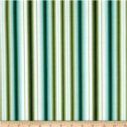 Palm Court Awning Stripe Aqua