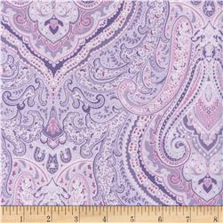 Timeless Treasures Orchids Medallion Paisley Purple
