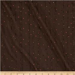 Sequin Crepe Chiffon Brown Fabric