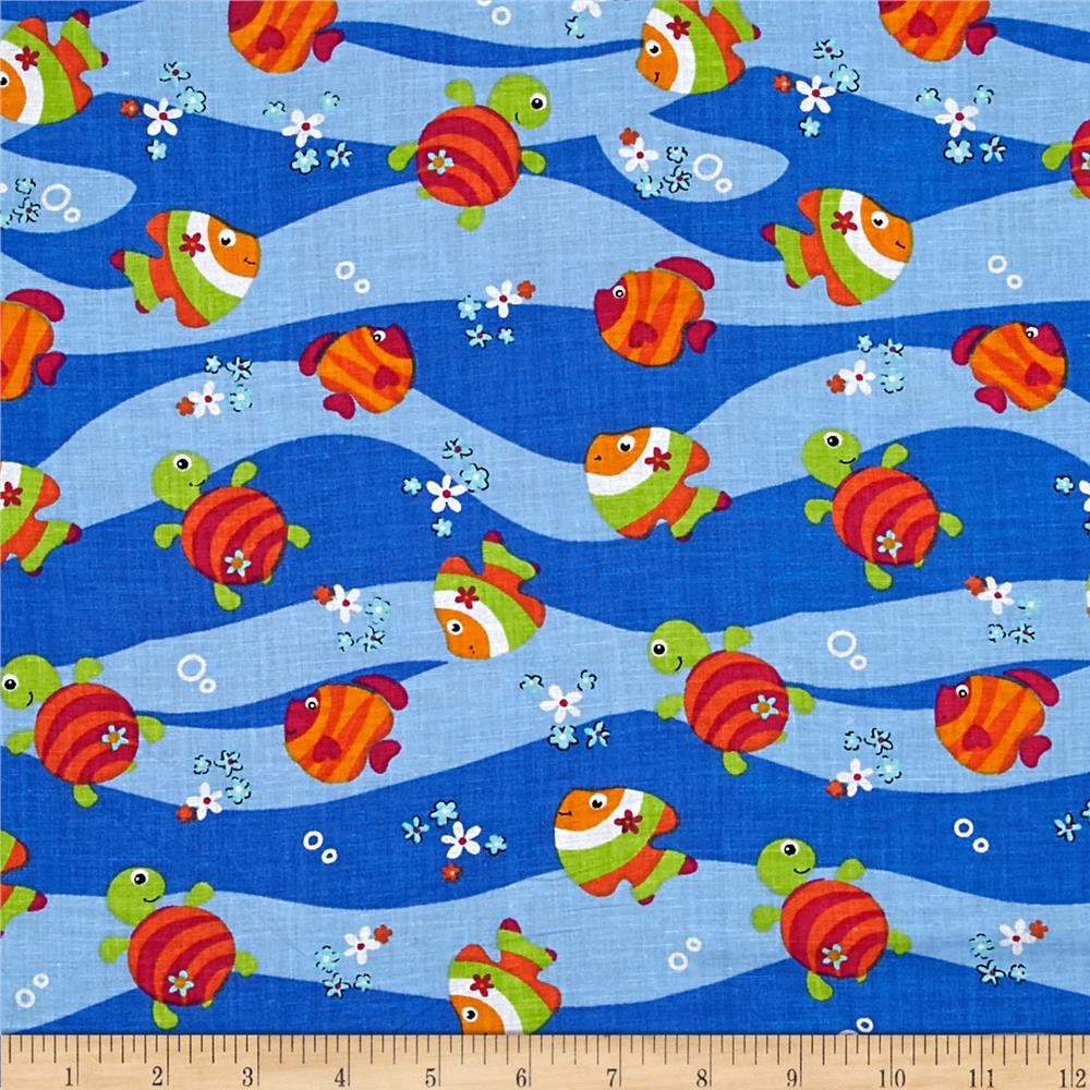 Broadcloth Pond Parade Blue